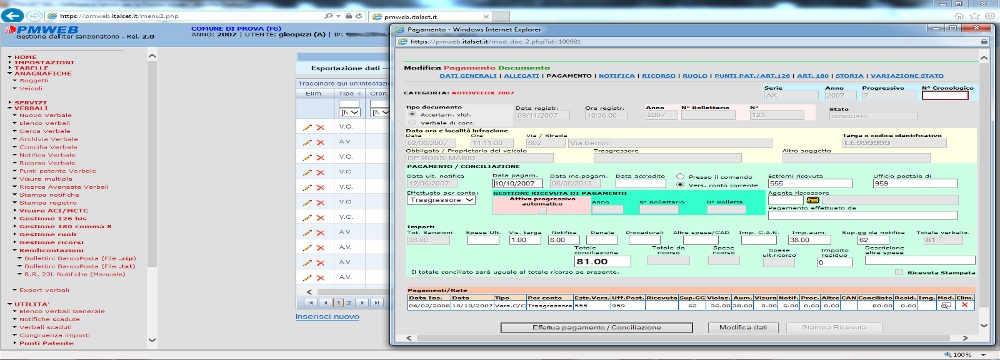 software gestione verbali codice della strada